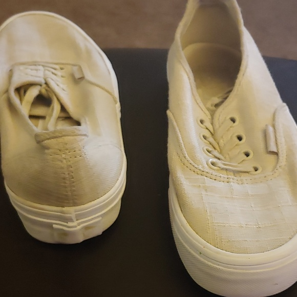 Vans Shoes | Cream Colored Sneakers